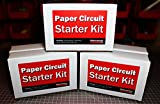 Paper Circuits Kit w/Project Book PDF (30 Student Pack) – Includes Project Book Download, Copper Tape, LEDs and Coin Cell Batteries.