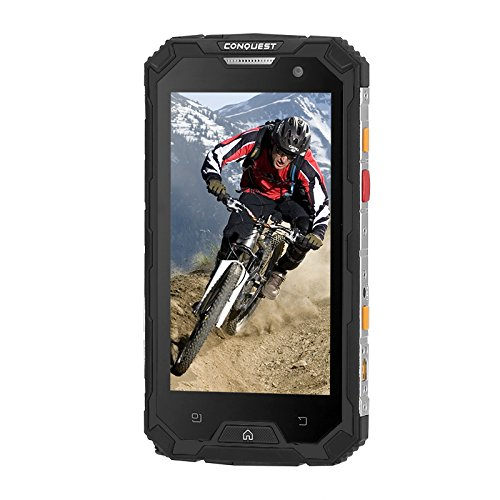 Generic Conquest S8 Rugged Phone 2017 Edition - 4G, Android 6. 0, IP68, GPS, IR Transmiter, Walkie Talkie, Octa Core CPU, 4GB RAM (Black)
