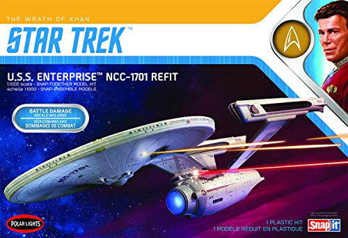 Polar-Lights-Star-Trek-USS-Enterprise-Refit-Wrath-of-Khan-Edition-11000-Scale-Snap-Together-Space-Ship-Model-Kit-TV-Show-Replica-NO-Glue-Required