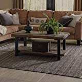 Alaterre AMBA1120 Sonoma Rustic Natural Coffee Table, Brown, 42',