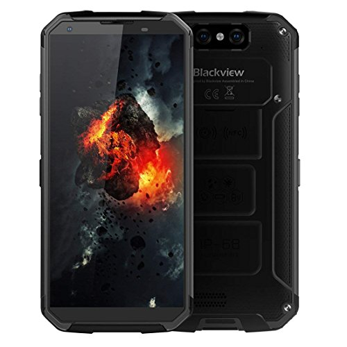 Unlocked Cell Phone, Blackview BV9500 Rugged Smartphone 10000mAh Battery Wireless Charging 5.7' FHD+IPS Display Dual Sim 4GB Ram+64GB ROM Dual Camera (Black)