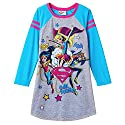 DC Comics Super Hero Girls Nightgown-Wonder Woman, Supergirl and Batgirl