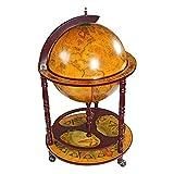 "Design Toscano SJ45001 Sixteenth-Century Italian Replica Globe Bar Cart Cabinet on Wheels, 38"", Sepia Finish"