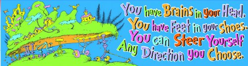 Eureka Dr. Seuss Classroom Banner, Oh The Places, 12 x 45