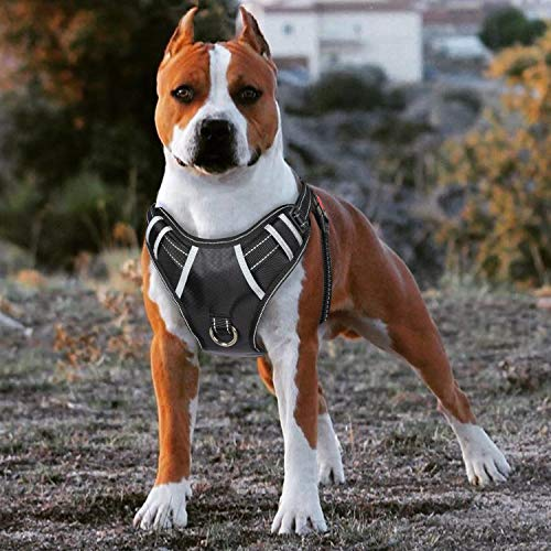 Big Dog Harness No Pull Adjustable Pet Reflective Oxford Soft Vest for Large...