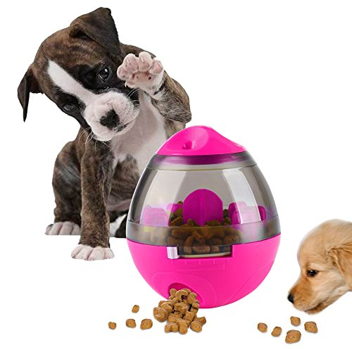 AIBOONDEE Swenter B07CZZZ9R9 1 Treat Ball Dog Toy for Pet Increases IQ Interactive Food Dispensing Ball, Rose, 4.6 x 3.9 inch 1