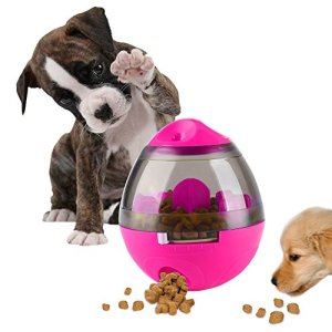 AIBOONDEE Swenter B07CZZZ9R9 1 Treat Ball Dog Toy for Pet Increases IQ Interactive Food Dispensing Ball, Rose, 4.6 x 3.9 inch