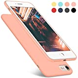 iPhone 7 Case, iPhone 8 Case, DTTO [Romance Series] Liquid Silicone Gel Rubber Anti-Scratch Shockproof 4.7 Inch iPhone Case for Apple iPhone 7 / 8 with Honeycomb Grid Pattern, Rose Gold