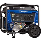 Westinghouse WGen6000 Portable Generator with Electric Start - 6000 Rated Watts & 7500 Peak Watts - Gas Powered - CARB Compliant