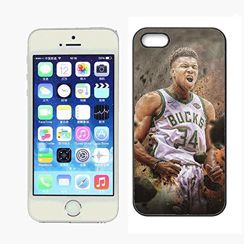 WZSY Personalized Sport Best Basketball Player Milwaukee MVP Antetokounmpo Case for iPhone 5 iPhone 5s,PC Material Never Fade