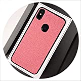 Luxury Cloth Fabric Phone Case for Xiaomi Pocophone F1 MI 5X 6X A1 A2 lite 8 SE Mix 2s Max 3 Redmi 5 Plus S2 6A Note 6 Pro Cover,Pink,Mi 8 SE