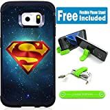 Samsung Galaxy S7 Edge Hybrid Armor Defender Case Cover with Flexible Phone Stand - Superman Universe V