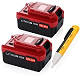 [Color Upgraded]-Powerextra 2 Pack 5.0Ah 20 MAX Lithium Replacement Battery for Porter Cable PCC685L PCC680L Porter Cable 20v Lithium Battery(with a free voltage tester pen)