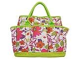 Garden Tool Bag with Pockets - Floral Garden Tool Bag Tote, Gardening Gift, Reinforced Garden Bag