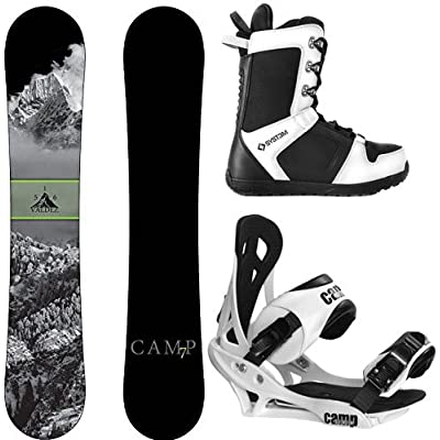 Camp Seven 2021 Valdez Snowboard Summit Bindings & APX Boots Men's Complete Snowboard Package