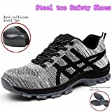 GUDUN Breathable Unisex Steel toe Boots Men's Comp Steel Toe Boots Steel toe Safety work Shoes Hiking Boot Logging lumber steel toe shoes(Check feet length to choose size) (44, GD11)