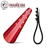 The Prairie Dog - Ultralight Camp Shovel Trowel for Backpackers - 0.7 Ounces/Extendable Handle/Double Sided Spade/Comfortable Grip/Minimalist Lightweight Tool for Digging Cat Holes/Made in USA