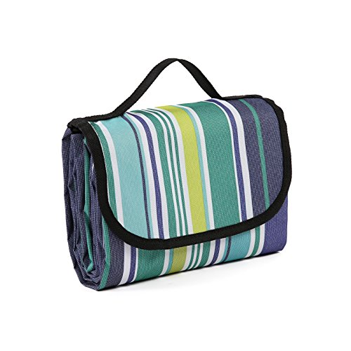 Young Tag Picnic Blanket 79''x57'' Foldable Outdoor Mat Waterproof for Picnics, Beaches, Camping and Outings