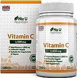 Vitamin C 1000mg 180 Tablets (6 Month's Supply) by Nu U Nutrition by Nu U