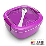 Bentgo  Eco-Friendly & BPA-Free Lunch Container, Large 54 oz, Purple