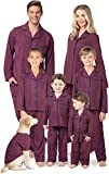 PajamaGram Matching Pajamas for Family - Button-Up, Red, Women's, S, 4-6