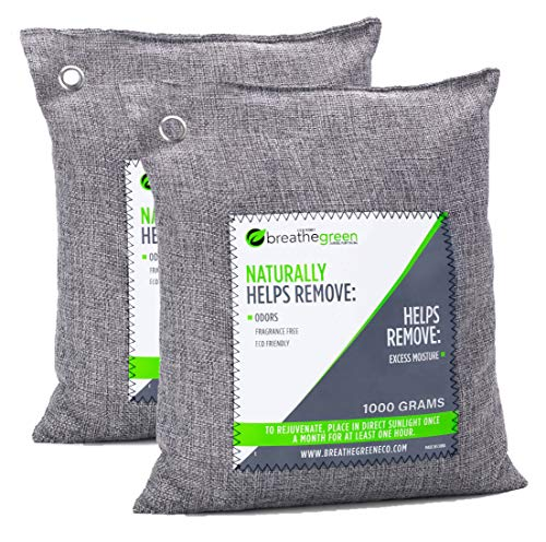 Breathe-Green-Charcoal-Air-Freshener-Bag-For-Large-Spaces-2X1000-Gram-Bamboo-Charcoal-Odor-Absorber-Natural-Air-Refresher-For-Odors-and-Moisture-Odor-Eliminator-for-Basement-Garage-Trucks-RV