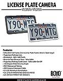 Boyo VTL275TJ Ultra Slim Full Frame License Plate Camera with Trajectory Parking Lines, Chrome