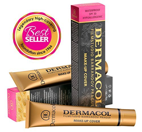 Dermacol Make-up Cover - Waterproof Hypoallergenic Foundation 30g 100% Original Guaranteed from Authorized Stockists - BUY 2 AND GET SATIN MAKEUP BASE FREE (224)