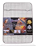 Kitchenatics 100% Stainless Steel Wire Cooling and Roasting Rack Fits Quarter Sheet Size Baking Pan, Oven Safe, Commercial Quality, Heavy Duty for Cooking, Roasting, Drying, Grilling (8.5' X 12')