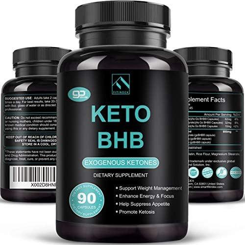 Keto Pills - Keto Diet Pills (800mg | 90 Capsules), BHB Ketogenic Supplement Exogenous Ketones Ketosis Keto Fast Burn Capsules - Support Weight Management & Metabolism, Boost Energy & Focus 3