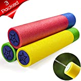 ToyerBee Water Guns(3 Packed), Large Diameter Foam Water Toys for Kids, Water Blaster Shoots up to 35ft, Squirt Guns for Kids&Toddler&Adult, Best Summer Toys in Swimming Pool, Beach