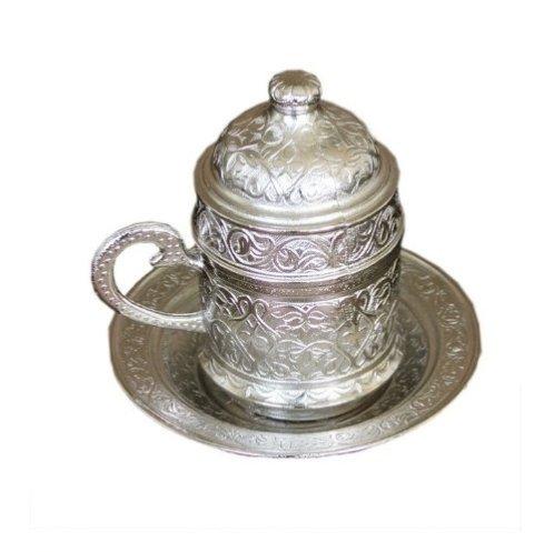 Tazzina in stile ottomano, color argento (14,90 Euro su Amazon.it)