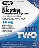 Rugby Clear Nicotine Transdermal System 14mg *Compare to Habitrol*, step 2, 14 Patches