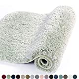 Walensee Bathroom Rug Non Slip Bath Mat for Bathroom (16 x 24, Pale Green) Water Absorbent Soft Microfiber Shaggy Bathroom Mat Machine Washable Bath Rug for Bathroom Thick Plush Rugs for Shower