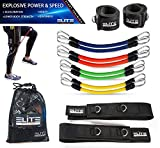 Elite Supplies 11 Pieces Speed Agility Strength Leg Resistance Bands - for All Sports & Exercise Fitness Fast Sprinting, Explosive, Agile, Strength, Endurance