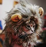 God's Hand Pet Costume Lion Mane Wig for Dog Cat Halloween Costume Decor Dress up with Ears,One Minute Become King of Forest (brown)
