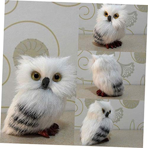 Christmas Lively Simulation Snowy White Plush Owl Animal Tree Hanging Festival Gift Brush Pendant Ornaments Xmas Decor Prop