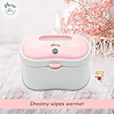 (Upgraded) MEMI Dreamy Wipes Warmer   Holder   Easy-USE   Perfect Gift  (Pink Rose))