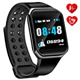 OumuEle Fitness Tracker HR- Kids Activity Tracker with Heart Rate Monitor Smart Watch with Blood Pressure Monitor Smart Bracelet with Step Calories Counter, Pedometer Watch for Women Kids Men