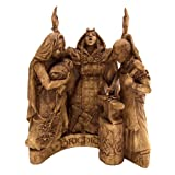 Dryad Design Celtic Goddess Brigid Brigit Statue Wood Finish