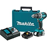 Makita XPH12R 18V LXT Lithium-Ion Compact Brushless Cordless 1/2' Hammer Driver-Drill Kit (2.0Ah),