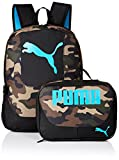 PUMA Boys' Little' Backpacks and Lunch Boxes, Camo/Blue Kit, Youth
