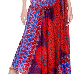 Joop Joop 2 in 1 Maxi Skirt and Midi Dress Bohemian Loose Flowing Boho Summer Travel Beach Cover-Up Festival Casual Skirt 8 Fashion Online Shop Gifts for her Gifts for him womens full figure