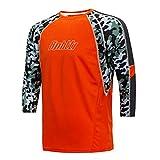 Bpbtti Men's MTB BMX Mountain Bike Shirt 3/4 Sleeve Biking Cycling Jersey (X-Large, Orange)