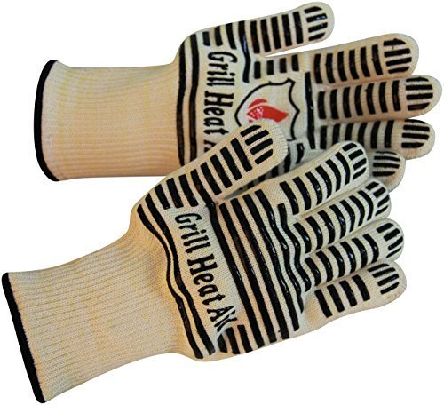 Extreme 932F Heat Resistant - Light Weight Flexible Kitchen Gloves - 100% Cotton Lining...