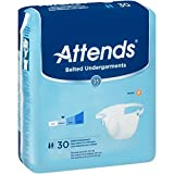 Attends Belted Undergarments with Odor Shield Technology for Adult Incontinence Care, Unisex, 30 Count (Pack of 4)