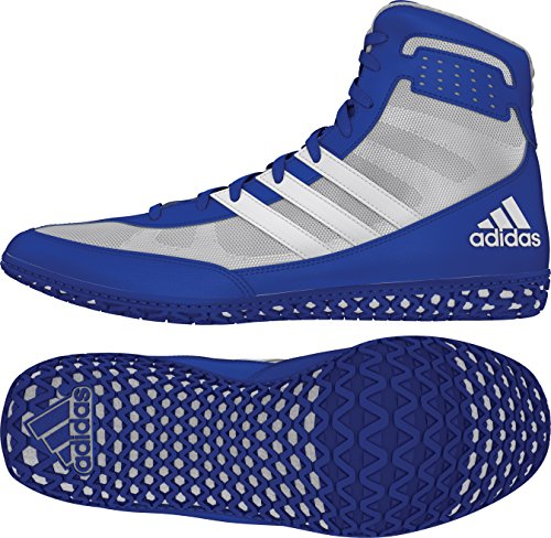 adidas Mat Wizard Men's Wrestling Shoes, Royal/White/Grey, Size 10