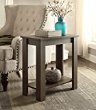 Product review for Espresso Finish 2-tier Chair Side End Table with Shelf