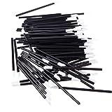 KOLIGHT Disposable Cosmetic Lip Brush Lipstick Gloss Wands Applicator Makeup Tools (1000pcs, Black)