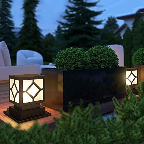 WHYA Square Waterproof LED Outdoor Column Lamps Modern ...